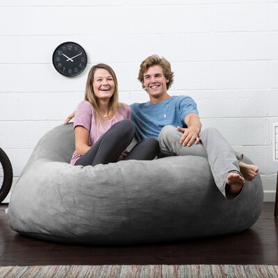 Big Joe Lux Bean Bag Sofa Upholstery: Gray