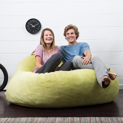 Big Joe Lux Bean Bag Sofa Upholstery: Kelly Green