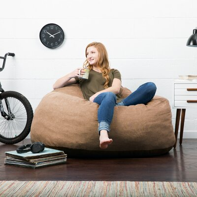 Big Joe Lux Bean Bag Sofa Upholstery: Pecan