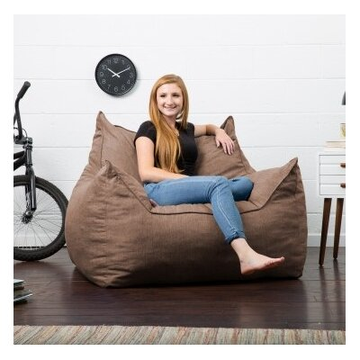 Big Joe Lux Bean Bag Lounger Upholstery: Pecan