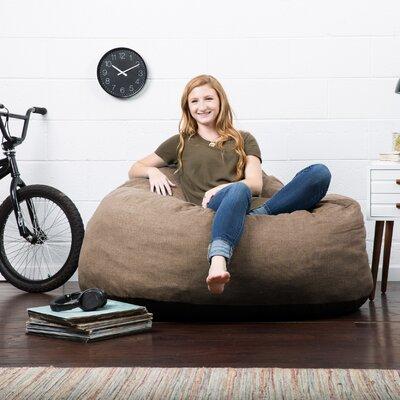 Big Joe Lux Bean Bag Chair Upholstery: Pecan