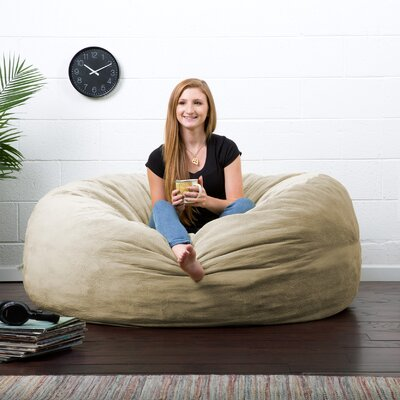 Big Joe Lux Bean Bag Chair Upholstery: Camel