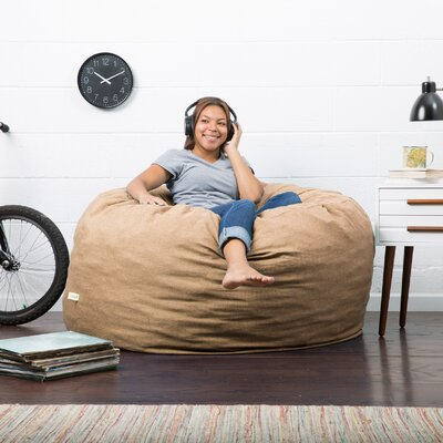 Big Joe Lux Bean Bag Chair Upholstery: Pecan