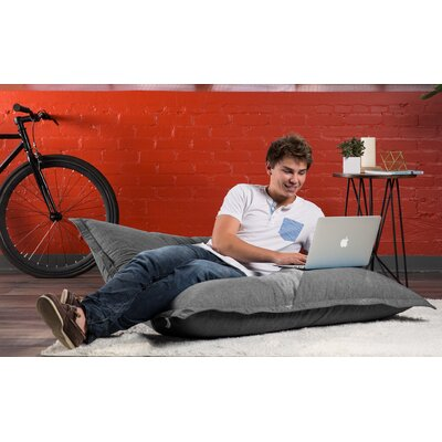 Big Joe Bean Bag Sofa Upholstery: Gray