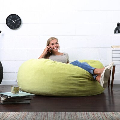 Big Joe Lux Bean Bag Chair Upholstery: Kelly Green
