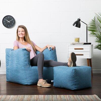 Big Joe Lux Bean Bag Chair Upholstery: Pacific