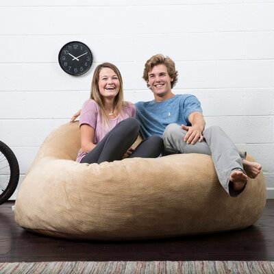 Big Joe Lux Bean Bag Sofa Upholstery: Camel