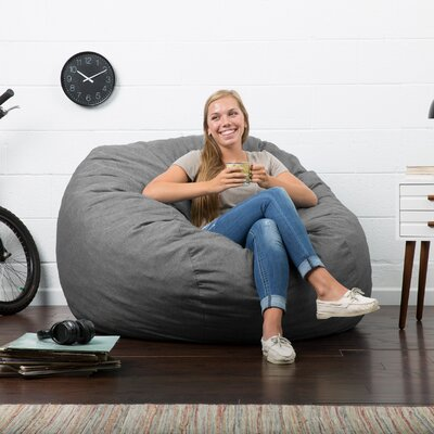 Big Joe Lux Bean Bag Chair Upholstery: Gray