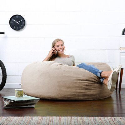 Big Joe Lux Bean Bag Chair Upholstery: Camel