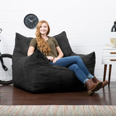 Big Joe Imperial Bean Bag Lounger Upholstery: Black