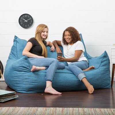 Big Joe Lux Bean Bag Sofa Upholstery: Pacific Blue