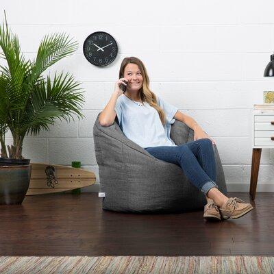 Big Joe Lux Bean Bag Chair Upholstery: Gray