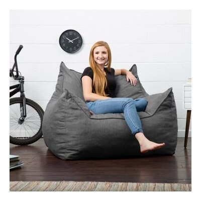 Big Joe Lux Bean Bag Lounger Upholstery: Gray