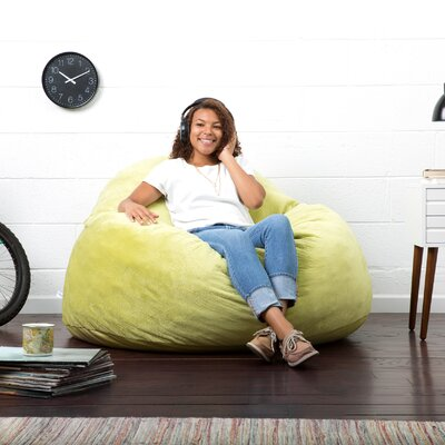 Big Joe Lux Bean Bag Chair Upholstery: Green Apple