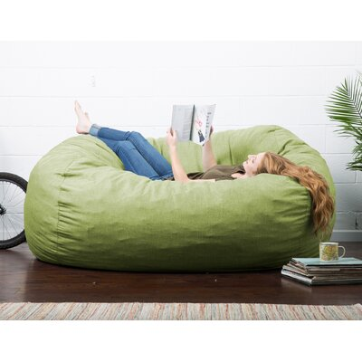 Big Joe Lux Bean Bag Sofa Upholstery: Kiwi