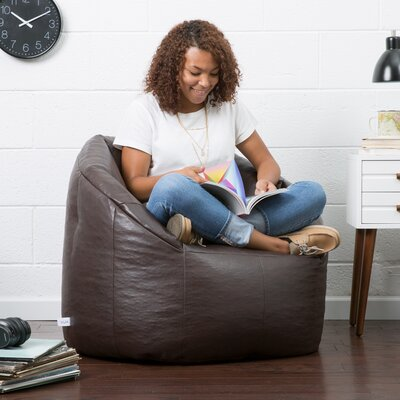 Big Joe Milano Bean Bag Lounger Upholstery: Brown