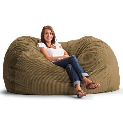 Fuf Foam Filled Sofa Upholstery: Wide-Wale Corduroy Coffee