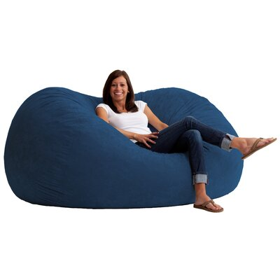 Fuf Bean Bag Chair Upholstery: Comfort Suede Blue Sky