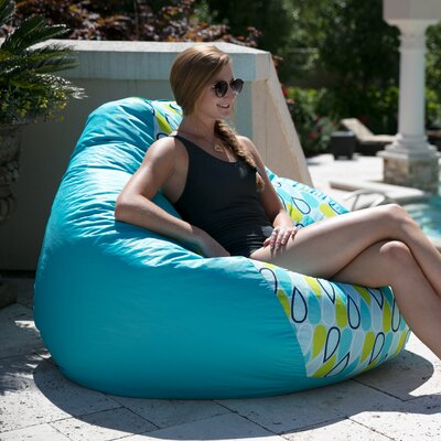Big Joe Outdoor Teardrop Geo Drop Bean Bag Chair Upholstery: Cool