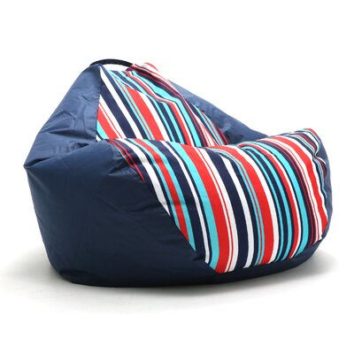 Big Joe Outdoor Teardrop Cozumel Stripe Bean Bag Chair Upholstery: Fiesta