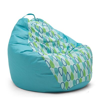 Big Joe Outdoor Teardrop Geo Drop Bean Bag Chair Upholstery: Cool
