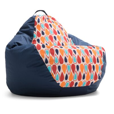 Big Joe Outdoor Teardrop Geo Drop Bean Bag Chair Upholstery: Fiesta