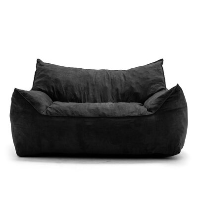 Big Joe Imperial Bean Bag Sofa Upholstery: Black