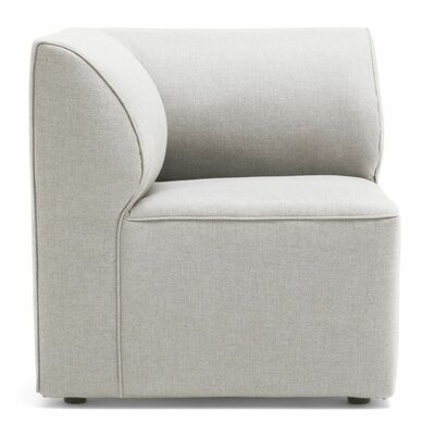Big Joe Lux Modular Indoor/Outdoor Corner Piece Chair with Cushion Fabric: Cast Silver Sunbrella