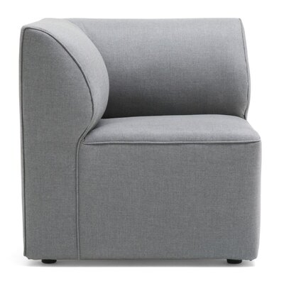 Big Joe Lux Modular Indoor/Outdoor Corner Piece Chair with Cushion Fabric: Cast Slate Sunbrella