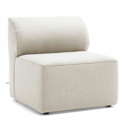Big Joe Lux Modular Indoor/Outdoor Armless Piece Chair with Cushion Fabric: Cast Silver Sunbrella