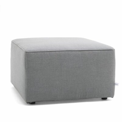 Big Joe Lux Modular Indoor/Outdoor Ottoman Fabric: Cast Slate Sunbrella
