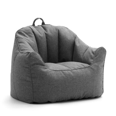 Big Joe Lux Hug Bean Bag Chair Upholstery: Gray