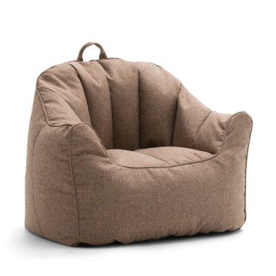 Big Joe Lux Hug Bean Bag Chair Upholstery: Pecan