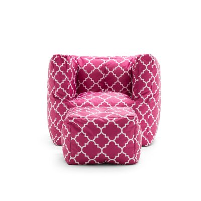 Big Joe 2 Piece SmartMax Cube Bean Bag Set Upholstery: Pink