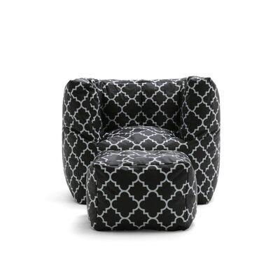 Big Joe 2 Piece SmartMax Cube Bean Bag Set Upholstery: Black