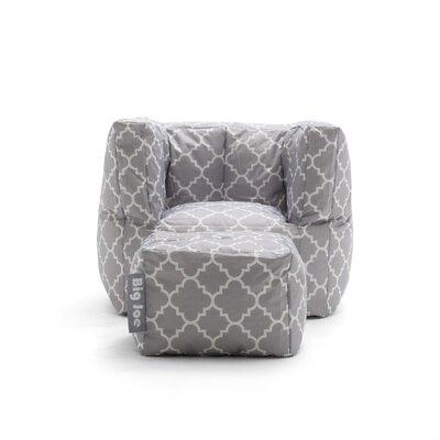Big Joe 2 Piece SmartMax Cube Bean Bag Set Upholstery: Gray