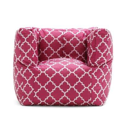 Big Joe SmartMax Cube Bean Bag Chair Upholstery: Pink