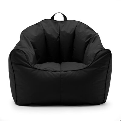 Big Joe SmartMax Hug Bean Bag Chair Upholstery: Stretch Limo Black
