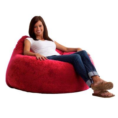 Fuf Chillum Bean Bag Lounger Upholstery: Sierra Red