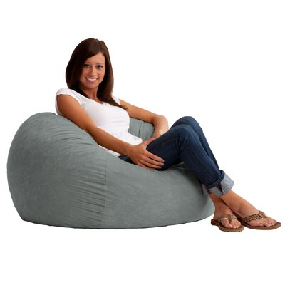 Fuf Bean Bag Chair Upholstery: Comfort Suede Steel Grey