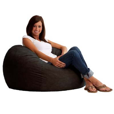 Fuf Bean Bag Chair Upholstery: Comfort Suede Black Onyx