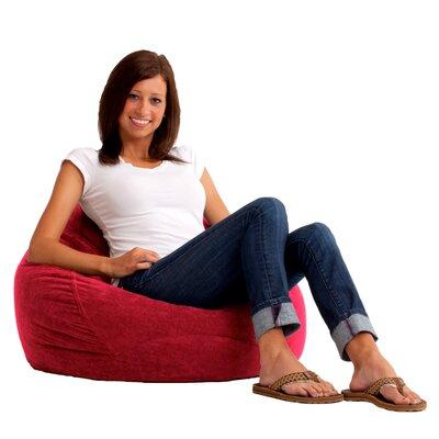 Bean Bag Chair Upholstery: Sierra Red