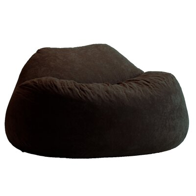 Fuf Bean Bag Sofa Upholstery: Black Onyx
