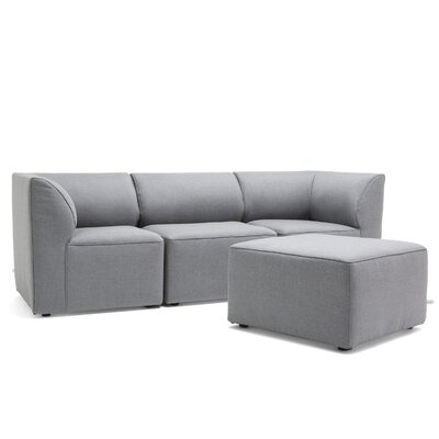 Big Joe Lux 4 Piece Sectional Set Fabric: Slate