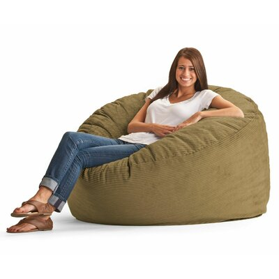 Fuf Bean Bag Chair Upholstery: Wide-Wale Corduroy Coffee