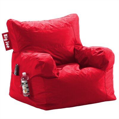 Big Joe Personalized Bean Bag Lounger Upholstery Color: Flaming Red