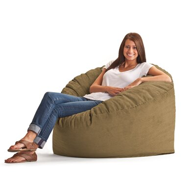 Comfort Research Fuf Bean Bag Chair - Fabric: Wide-Wale Corduroy Coffee at Sears.com