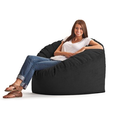 Fuf Bean Bag Chair Upholstery: Wide-Wale Corduroy Black