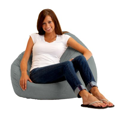 Bean Bag Chair Upholstery: Comfort Suede Steel Grey
