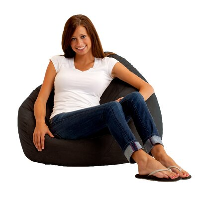 Bean Bag Chair Upholstery: Comfort Suede Black Onyx